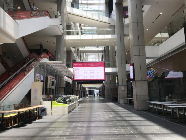 マレーシアのパビリオンショッピングモール